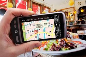 restaurant finder on the smartphone